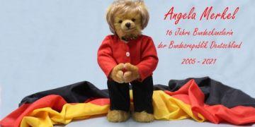 Món quà đặc biệt – Công ty đồ chơi Đức sản xuất gấu bông dành riêng cho Thủ tướng Merkel