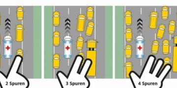 Quy tắc 'bàn tay phải' của người Đức để nhường đường xe ưu tiên
